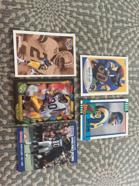 LA Rams Henry Ellard #80 Football Cards Lot Of 5