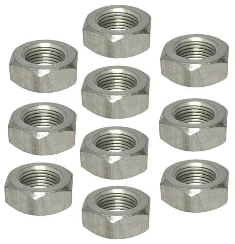 """5//8/""""-18 R//H Aluminum Jam Nuts 10 Pack #1136"""