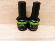 2PK of Bluesky Soak Off UV LED Gel Nail Polish JUMBO Clear Base Coat 15ML