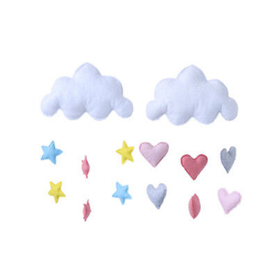 Cute Cloud Love Heart Star Baby Nursery Mobile Wall Hanging Decor Shower Gifts