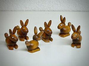Das Bild Wird Geladen 6 Er Set Hasen 3 Cm Braun Aus