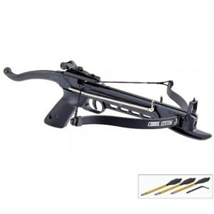 MINI 80 LB SELF COCKING PISTOL CROSSBOW w/ BOLTS ARROWS Hunting Archery Gun