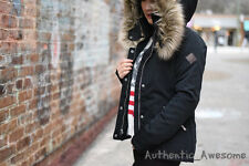 NWT Hollister By Abercrombie Women's Fur Lined Down Anorak Jacket Outerwear XS