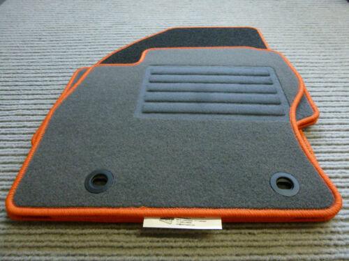 Rand ORANGE Lagerware Fußmatten Passend für Ford Focus II DA3 ST RS