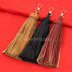 New Long Leather Tassel Pendant Keyring Bag Purse Key Chain Handbag Accessories