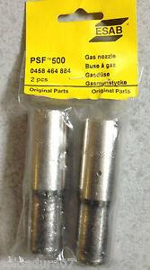 2 Pièces 1 Emballage Welding Esab Gas Douille Pour Torche Psf 500 Rf. 0458 464