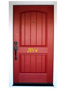 Image Is Loading HOUSE NUMBER FRONT DOOR Vinyl Decals Stickers