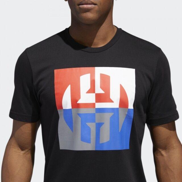 online store ebbd6 36caf Adidas Mens James Harden Big Exploded Logo Basketball T Shirt Save 30%!!  Medium
