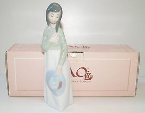 LLadro-Nao-Large-23cm-Young-Maiden-Becky-Sun-Hat-Ornament-Original-Box-01119