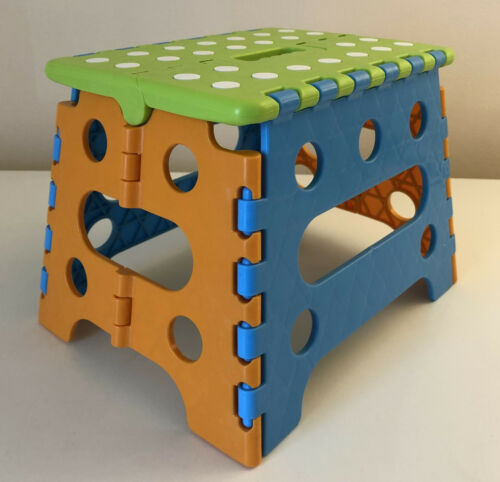 Folding Plastic Step Stool Foldable Chair Multi Purpose Home Kitchen Work Use
