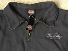 Harley Davidson 1/4 Zip Gray Sweatshirt Nwt Women's Large