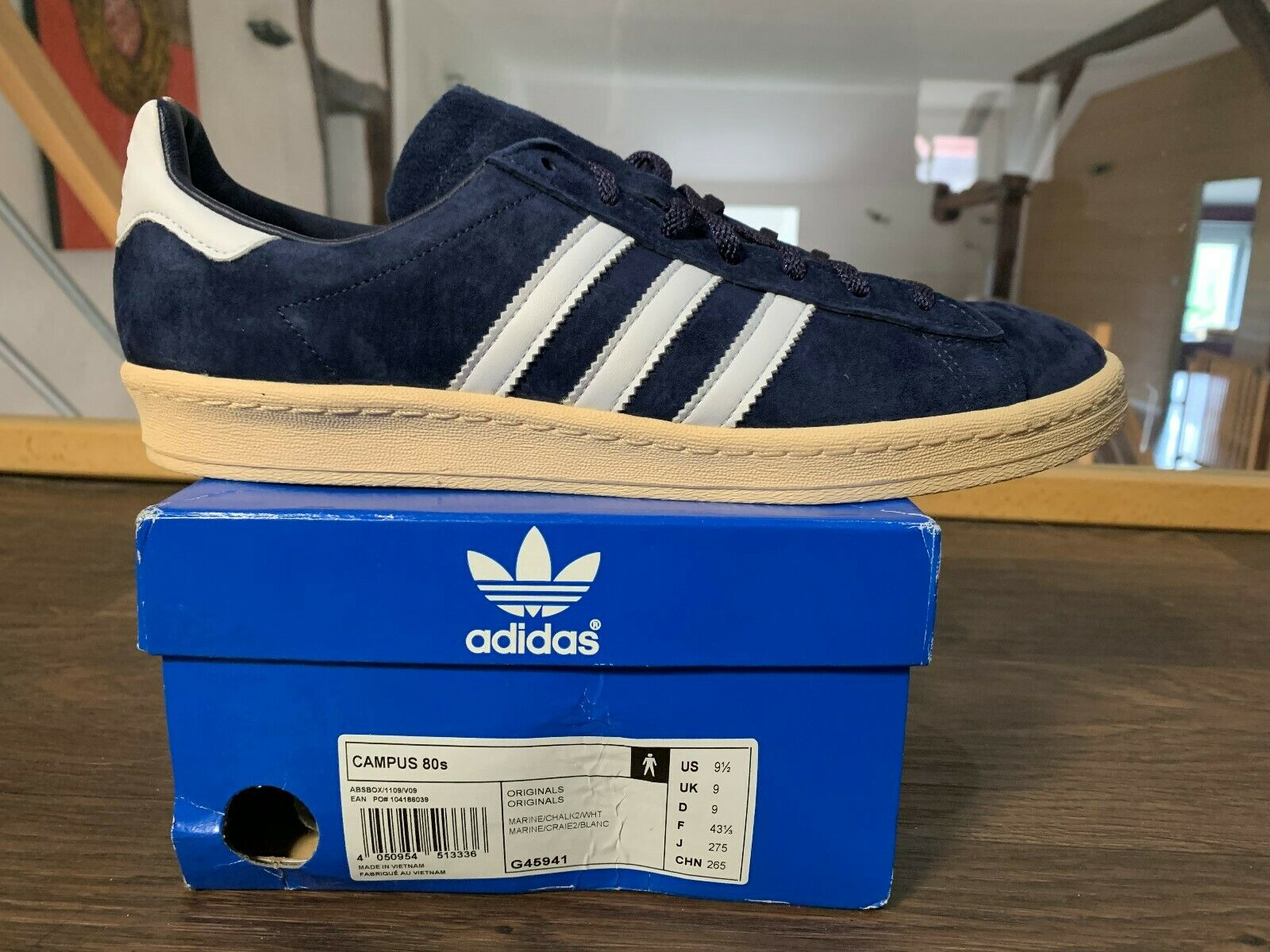 ADIDAS CAMPUS 80s FOOT PATROL Navy NEW B-Sides Rare 2011 baskets G45941
