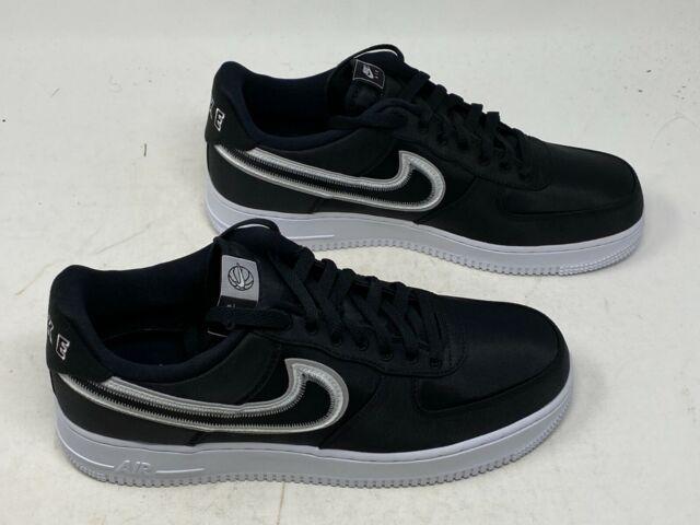 Nike Air Force 1 '07 Lv8 Reverse Stitch Mens Cd0886-001 Black Shoes Size 7