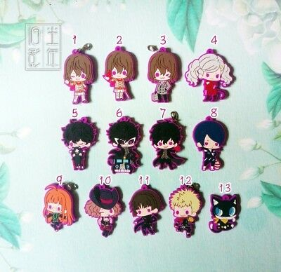 Japan Anime Game PERSONA5 P5 Persona 5 Keychain Key Ring Rubber Strap Charm Gift