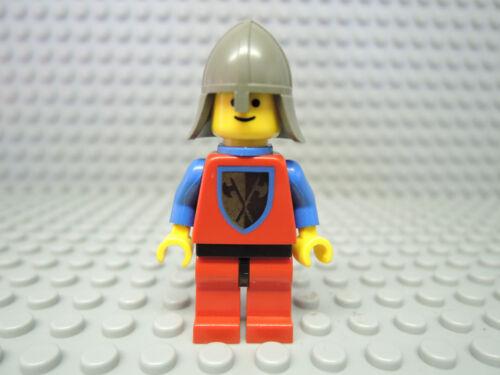 LEGO Figur Castle Ritter Crusader Axe blaues Cape cas111a  6055