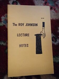 Vintage-Roy-Johnson-Lecture-Notes-1970-Booklet