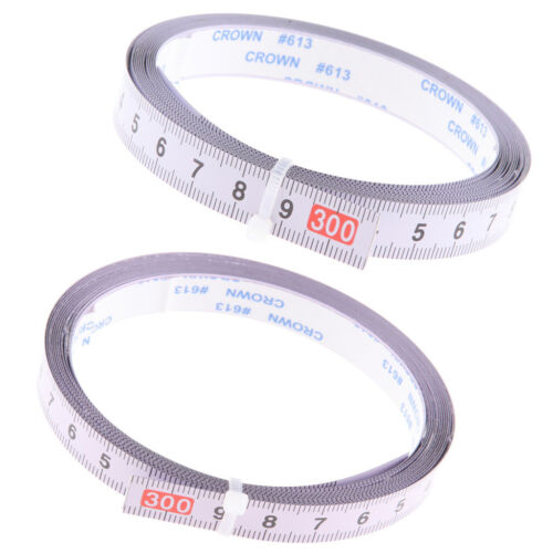 2PC Self Adhesive Workbench Ruler Tape Measure Left to Right /& Right To Left