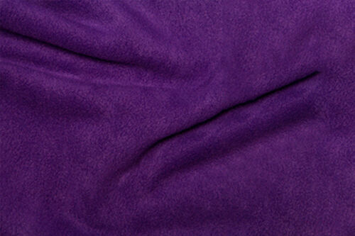 FREE P/&P 25 COLS Plain Coloured Single Sided Anti Pill Polar Fleece Fabric Craft