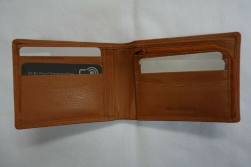 High Quality Luxury Mens Soft Leather Wallet With Zipped Coin Pocket RFID
