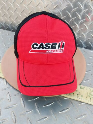 Case IH red black micro mesh piping /& twill Cap Hat Trucker brand new licensd