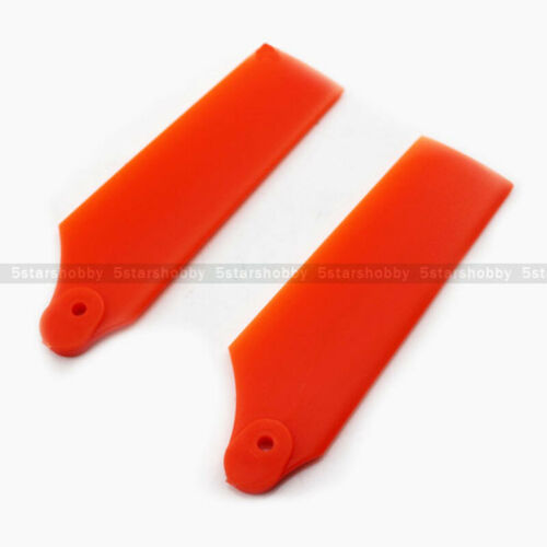 2Pairs Tarot Tail Rotor Blade Orange for Align Trex 550 600 RC Helicopter