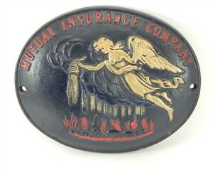 Vintage-Mutual-Insurance-Company-Cast-Iron-John-Wright-Fire-Mark-Wall-Plaque