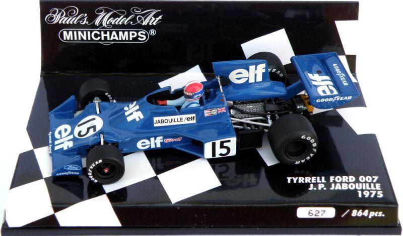 Minichamps Tyrrell Ford 007 1975-Jean-Pierre Jabouille 1 43 Escala