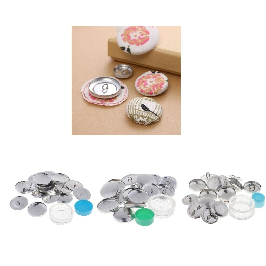 10pcs 20/30/40mm Cover Buttons Assembly Tool Kit DIY Cloth Button Bag Buckle