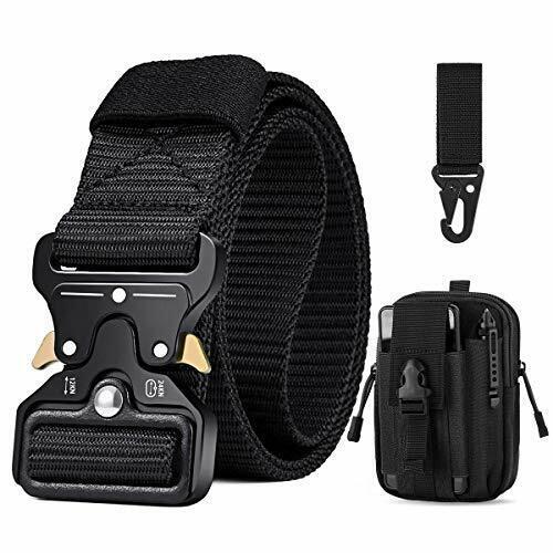 Bestkee Mens Tactical Belt 1,5 Inch High Performance Belt, (A-Black)