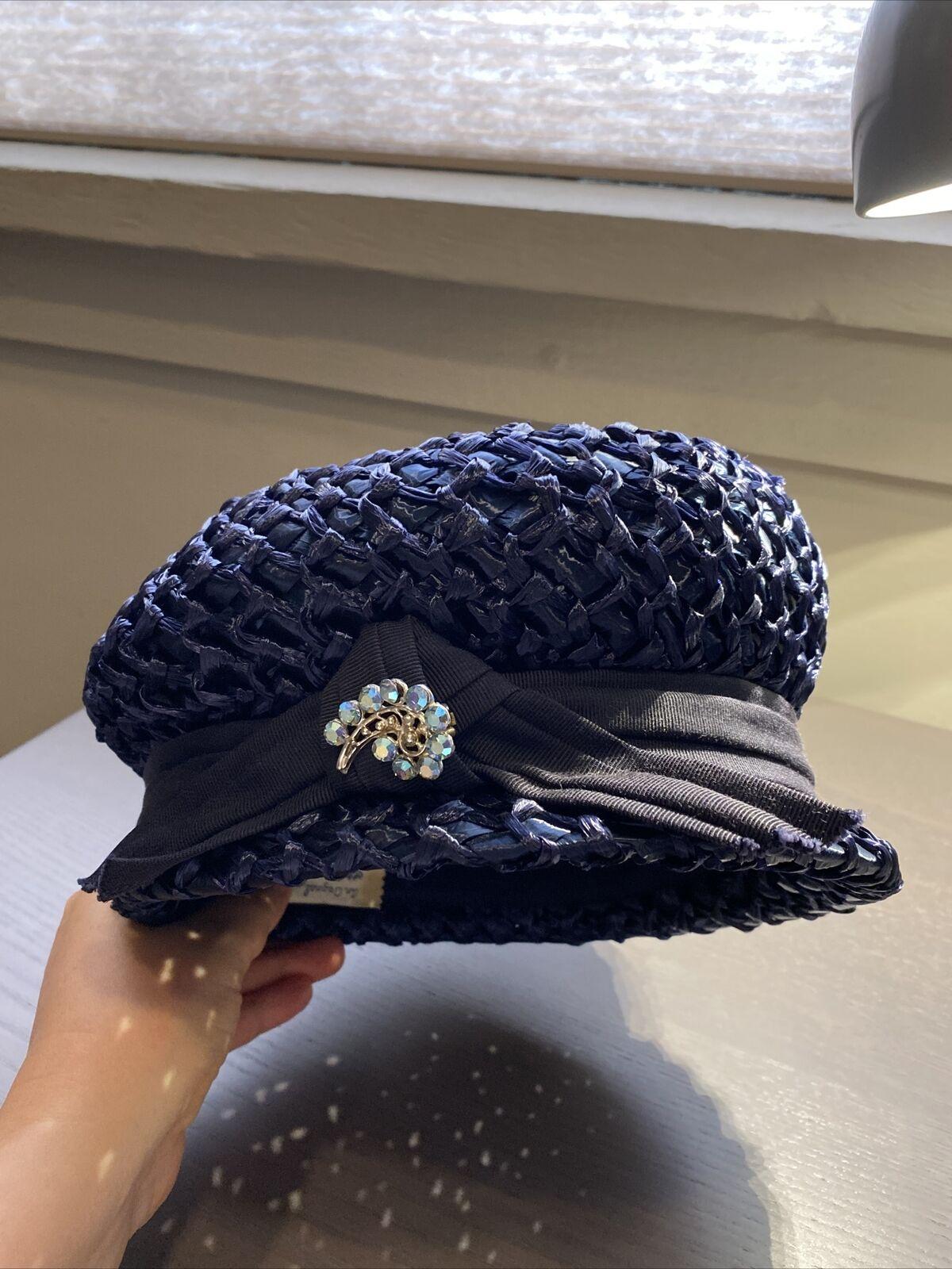 An Original Lady Byrd Creation Blue Hat c.1960's - image 1