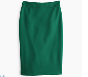 NWT J.CREW No2 Pencil Skirt Double Serge wool ALPINE MEADOW 0 2 4 6 8 10