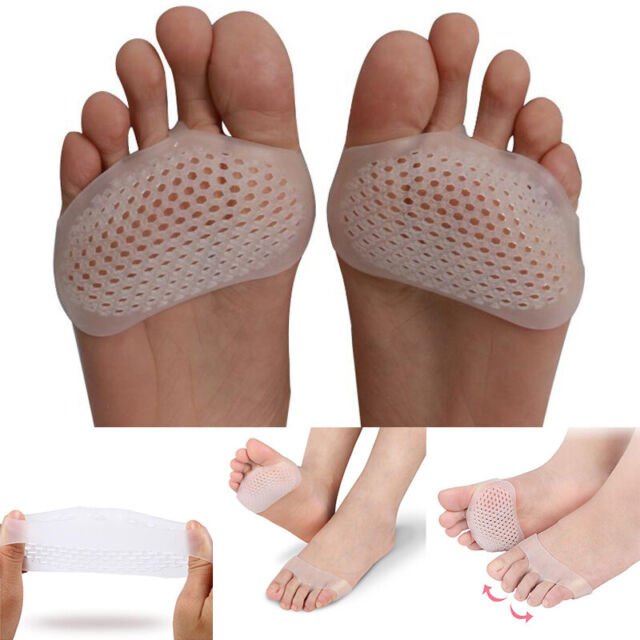 Women Silicone 1 Pair Gel Shoe Front Pads Insert Insoles Half Yard Foot Care