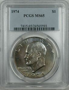 1974-Eisenhower-Type-1-Ike-Dollar-1-Coin-PCGS-MS65-Toned-BR-36-D