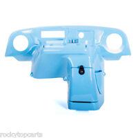 Ezgo Txt 1996-2013 Golf Cart Elite Radio Dash Cover Gloss Blue Carbon Fiber
