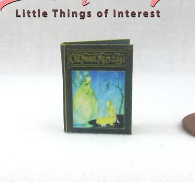 Old French Fairy Tales Illustrated Miniatura Libro Casa Delle Bambole 1:12 Scala Prezzo Di Strada