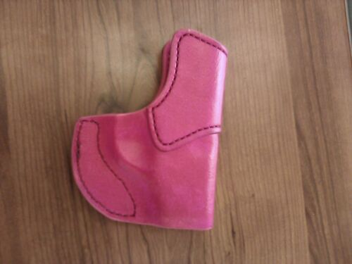 Leather Purse//Pocket HOLSTER for Glock 42 Pink or Purple Made in the USA