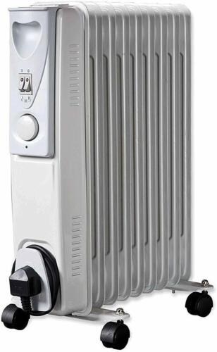 Daewoo Home /& Office Portable Radiateur à Bain d/'Huile Radiateur avec thermostat-Blanc