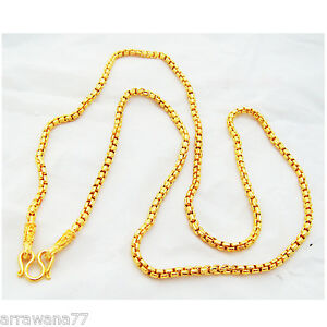 chain 22k 23k 24k thai baht yellow gold gp necklace 24 quot 3