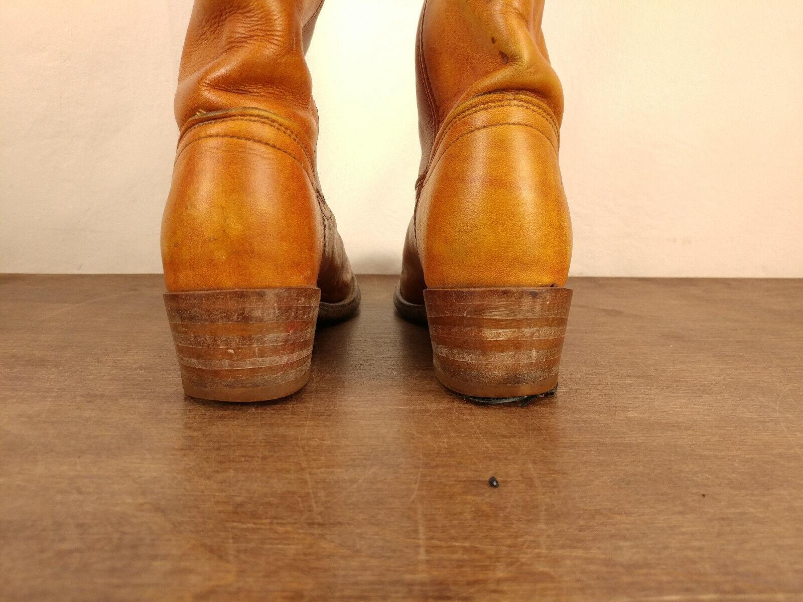 De Colección Colección Colección mujeres de cuero del montar a caballo Frye campus Silla De Montar Alto marrón botas talla 6.5 B 628287