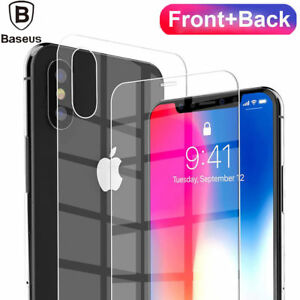 For iPhone XS Max XR Front & Back 3D Curved Tempered Glass Screen Protector Film