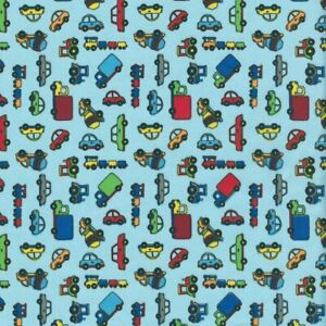 Текстиль звуковой сигнал звуковой сигнал французском детская ткань-голубой - 100% хлопок (на 50 cm)