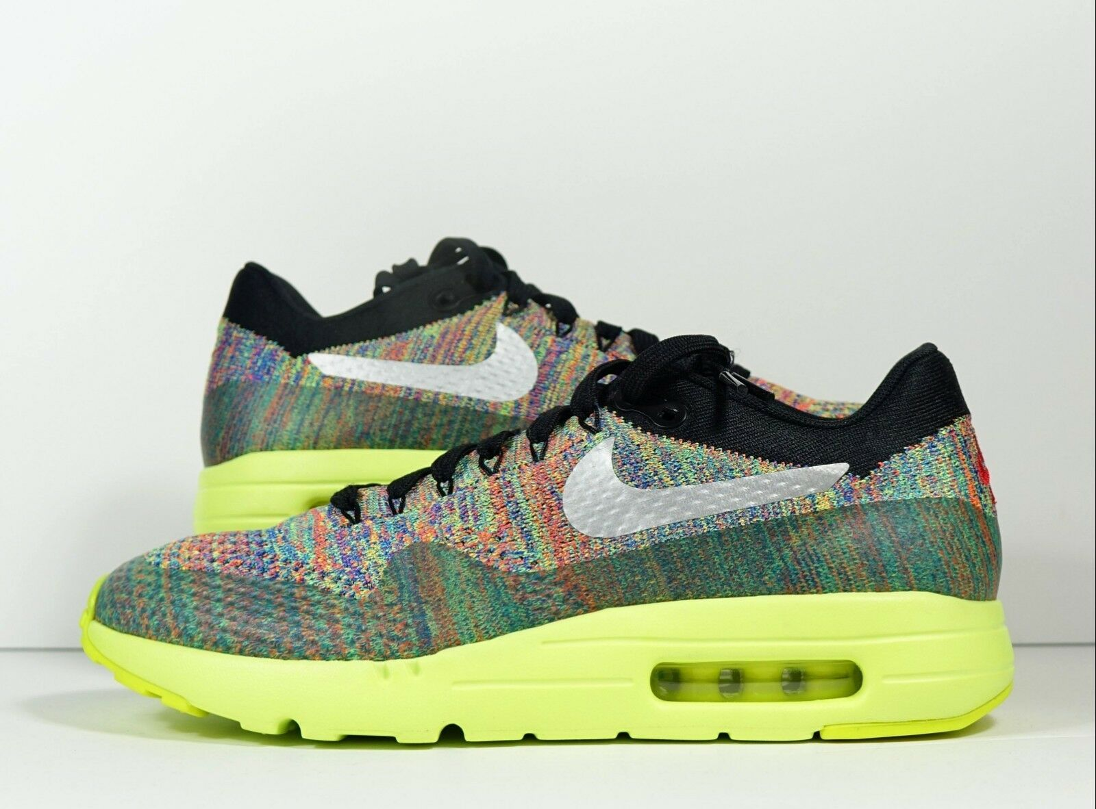 Nike AirMax 1 Ultra Flyknit AirMax Day 3 26 Multicolor Volt Sz 8.5