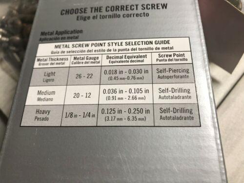 "192 PC Multi-Purpose Screws #7 x 1-5//8/"" Drywall To Wood 1 LB"