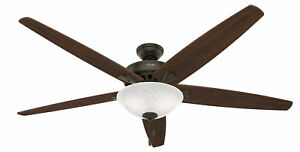 Image Is Loading Hunter Stockbridge With Light 70 Inch Brown Ceiling