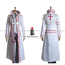 Sword Art Online Kazuto Kirigaya kirito Blood Knights White Suit Cosplay Costume