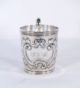 Antique Coin Silver Cup c.1868