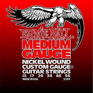 3 Pack! ernie Ball 2204 Nickel Wound Custom Gauge Guitar Strings Ships Free U.s à Vendre