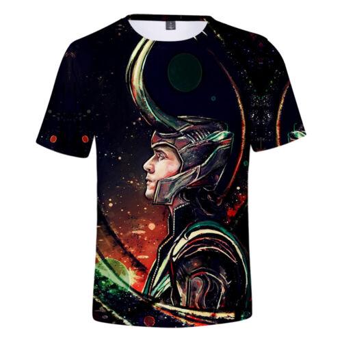 Loki Tom Hiddleston T-Shirt Crew Neck Top Summer 3D Polyester Short Sleeve Tee