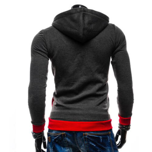 Mens Long Sleeve Hoodie Sweater Sweatshirt Jacket Coat Gym Jumper Tops Outwear