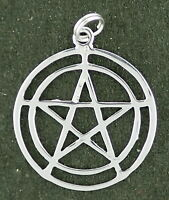 Pentacle Pendant Sterling Silver Wicca Polished Finish With Split Ring